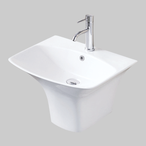 Wash Basins With Half Pedestal